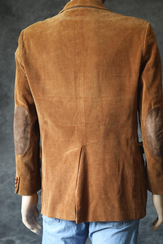Vintage Tan Golden Men's Corduroy Blazer Jacket - image 2