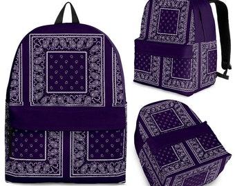 Royal Purple Bandana Color Patch  Premium BackpackHippie Festival