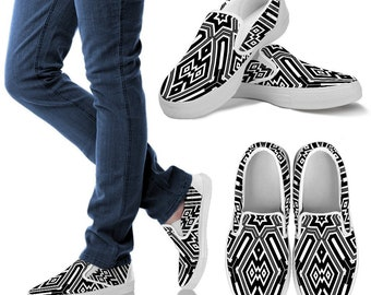 Handcrafted Shoes Zebra Deluxe Womens slip ons Womens loafers slip resistant Shoes slip on sneakers