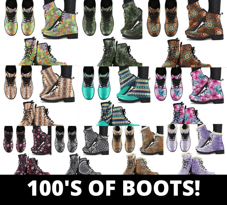 Psychedelic boots Girl boots Boho boots Blue Girl Women/'s boots Vegan boots Suede BootsCombat boots Bohemian Boots