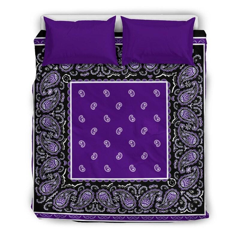 Hippie Classic Black and Purple Duvet Cover Set,Duvet Cover Bedding Coverlet Printed Duvet Cover Comforter Multi Colored