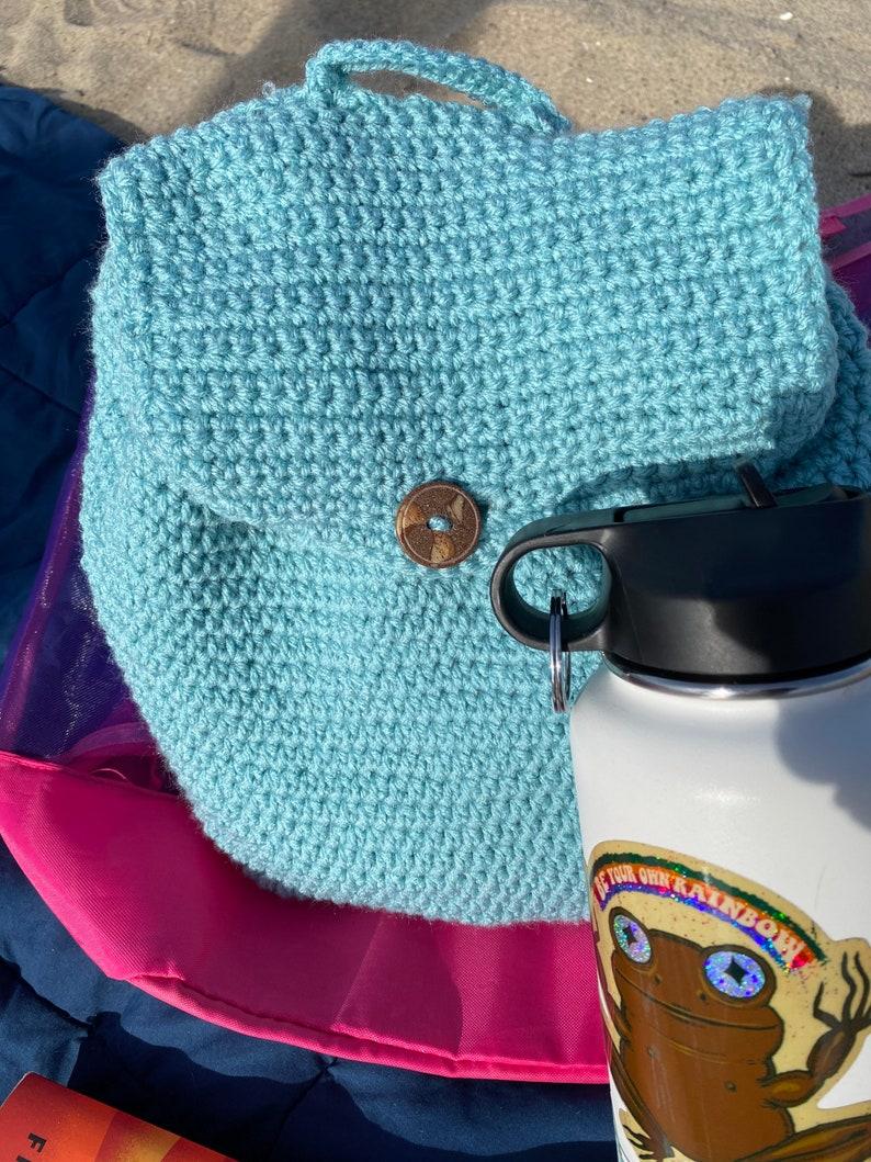 Crochet Purse Carry-On-Bag Festival Bag Crochet Backpack-Medium Sized Backpack