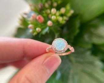 Opal Rose Gold Ring| Gift for Her| White Opal Ring| Best Friend Ring| Opal Ring| Dainty Opal Ring| Minimalist Opal Ring| Rose Gold Opal