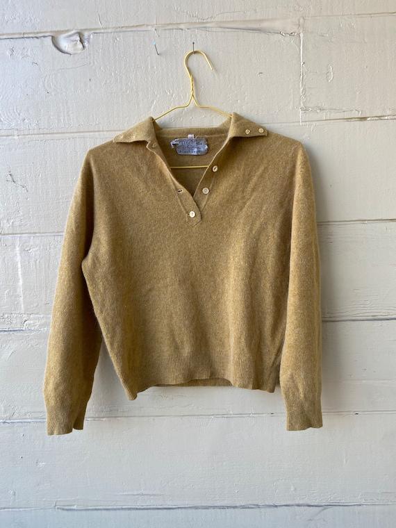 50's soft ochre sweater