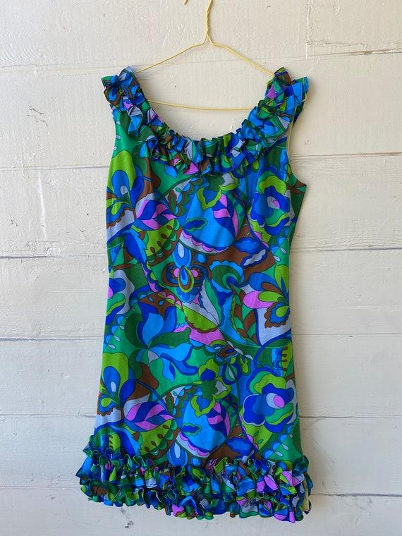 60's Hawaiian style minidress