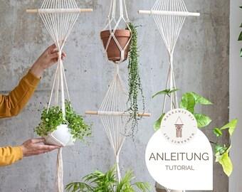 "DIY Tutorial / Anleitung - Makramee Blumenampel ""Emma"", Makramee DIY inkl. Video | Geschenk, Wanddekoration, Boho"