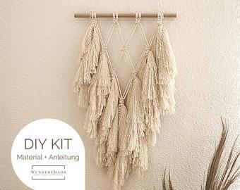 "DIY Kit Macrame Wall Hanging ""Maya"", Macrame DIY Kit incl. Video | free mini macrame & instructions | Gift, Wall Decoration, Boho"