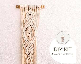"Macrame DIY Kit Wall Hanging ""Coco"", incl. video | free mini macrame kit, craft kit, starter kit for a macrame gift boho decoration"