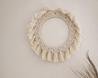 "Macrame wall hanging wreath ""Luna"", various colors, wall decoration, macrame, macrame, boho, wall decoration, gift"