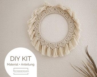 "DIY Kit Macrame Wall Hanging ""Luna"", Macrame DIY Kit incl. Video | free mini macrame & instructions| Gift, Wall Decoration, Boho"