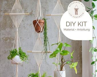 "DIY Kit - Macrame Flower Light ""Emma"", Macrame DIY Kit incl. Video | free mini macrame & freebie | Gift, Wall Decoration, Boho"