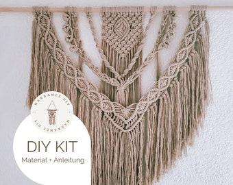 "DIY Kit - Macrame Wall Hanging ""Lorelei"", Macrame DIY Kit incl. Video | free mini macrame & instructions| Gift, Wall Decoration, Boho"
