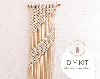 """DIY Kit Macrame Wall Hanging """"Lina"""", Macrame DIY Kit incl. online course with videos 