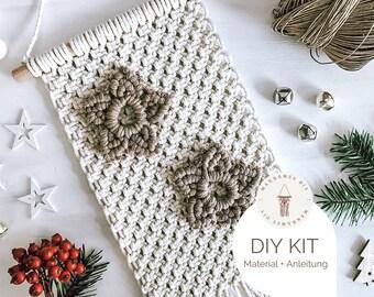 "Macramé DIY Kit ""Flower"", incl. Video, Craft Set, Starter Kit for a Macramé Gift Boho Decoration Christmas Decoration"