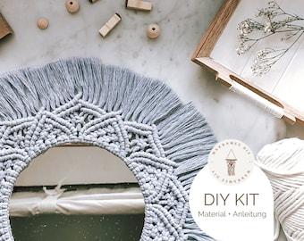 "DIY Kit Macrame Wall Hanging ""Mandala"", Macrame DIY Kit incl. Video | free mini macrame & instructions| Gift, Wall Decoration, Boho"