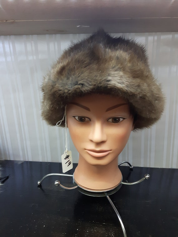 Vintage 1960's Genuine Fur Hat