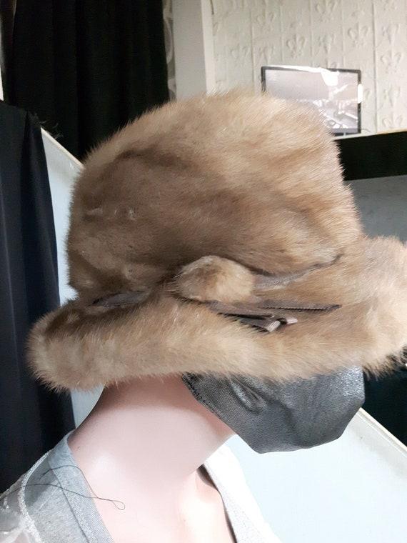 Vintage mink fur hat Lilly Daché