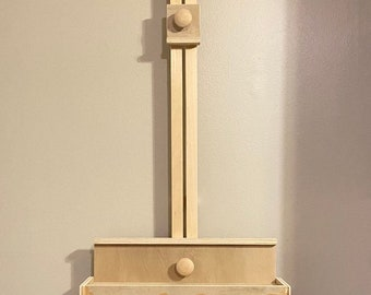 Wall Mounted Artist Easel, Wall Easel, Painting Easel, Artwork Display Easel, Wood Easel, Painting Supplies, Artist Gifts, Painting Tools