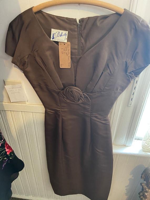 Vintage Pat Hartley Brown Dress