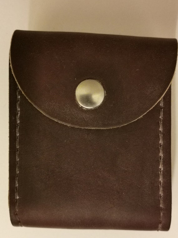 Vintage 1980s men's brown leather belt wallet bag