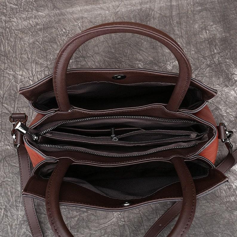 Female High Quality Leather Handbag Style Bucket Bags Vintage Shoulder Bag Handmade Embossed Retro Bags For Women