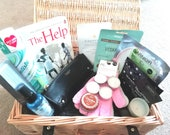 Luxury Wicker Pamper Hamper with Book Pamper Gift Mother 39 s Day Gift Lockdown Gift Spa at Home Relaxing Gifts