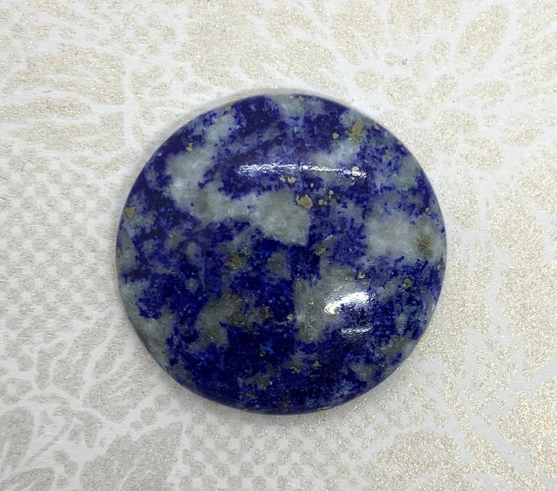 Cent Lapis Lazuli,Natural Lapis Lazuli,Lapis Cabochon,natural gemstone,loose gemstone,Gemstone Cabochon jewelrymaking,26X26X5 mm 34.45 Carat