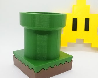 Green Super Mario Warp Pipe with Drainage and Tray