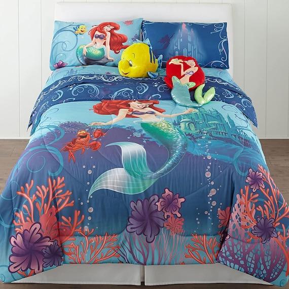 Disney The Little Mermaid Reversible, Little Mermaid Bedding Full Size