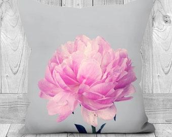 Single Pink Peony Cushion, Handmade Cushion, Scatter Cushion, Cushion Cover, Decorative Cushions, Flower Cushion, Pink Cushion, Pillow Cover
