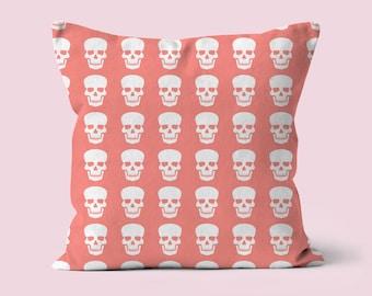 Skull Printed Cushion, Halloween Cushion, Halloween Decor, Scatter Cushion, Autumn Decor, Halloween Home, Decorative Pillow, Throw Pillow