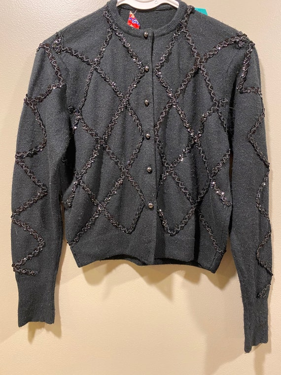 Vintage Rosanna Orlon Beaded Cardigan