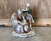 German Vintage Porcelain Figurine 18th century style, Victorian Home decor