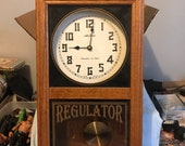Vintage Seth Thomas Regulator Westminster chime wall clock