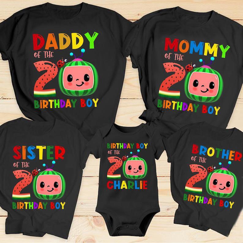 Personalized Coco-melon Birthday Shirts Cocomelon Family image 0