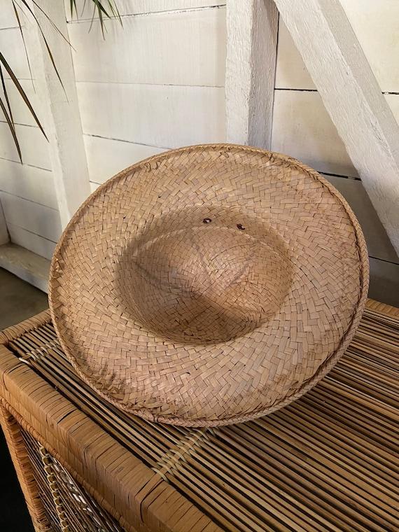 Vintage 1970's Handmade Explorer Safari Straw Hat… - image 5