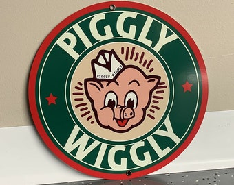 Piggly Wiggly Grocery Store Vintage Sign