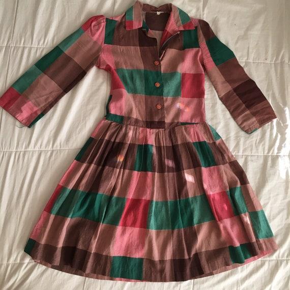 Vintage 1950s Handmade Dress