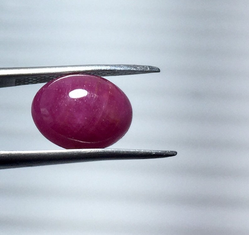 3.35 Carat Weight Ruby Loose Stone Calibrated Cabochon For Jewelry Natural  RUBY Cabochon Oval  Shape Gemstone 10 X 8  MM