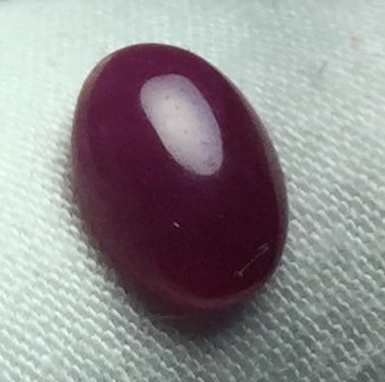 Natural  RUBY Cabochon Oval  Shape Gemstone Ruby Loose Stone Calibrated Cabochon For Jewelry 2.05   Carat Weight 9 X 7  MM