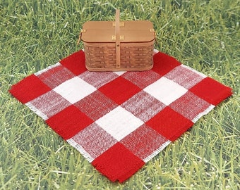 Dollhouse Miniature Picnic Blanket,Miniature Camp Blanket,1:12 Scale Blanket