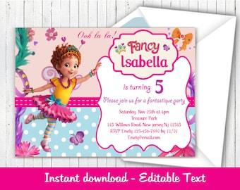 Fancy Nancy Invitation, Fancy Nancy Birthday Party, Editable Fancy Nancy Invitation, Instant Download DIY