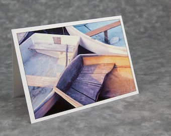 Dories at Round Pond/Round Pond Harbor Maine/Blank Photo Greeting Card/Soft Matte Excellent for Writing Notes