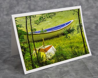 Summer Boats/Downeast Maine/Maine Seacoast/Summer Vacation/Blank Greeting Card/Soft Matte Paper Excellent for Writing Notes