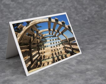 Inside Lobster Trap/Wooden Lobster Trap/Acadia National Park/Wonderland/Blank Photo Greeting Card/Soft Matte Excellent for Writing Notes