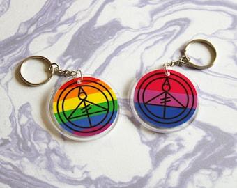Pride Light Glyph Acrylic Pins