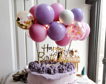 Silver Confetti Balloon Cloud Garland Cake Topper DIY Kit Star Wars Silver Cake Decoration Balloon Cake Topper For Birthday Parties