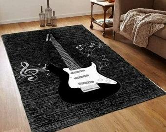 Guitar decor music room decoration rug mat