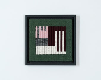 Hand-woven mural Wall-Art 'structured stripes 0C'