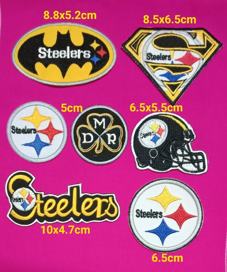 Pittsburgh Steelers 7Pcs per pack Logo Patches on~Iron on ~ Sewing on Fabrics